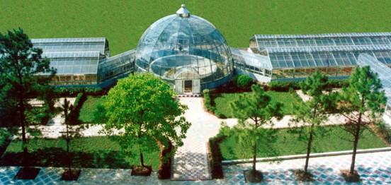 中科院武汉植物研究所(植物园)球体组合温室